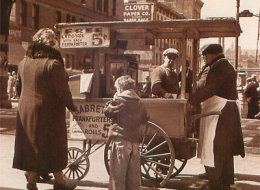 Hot Dog Cart Business in the Early Days