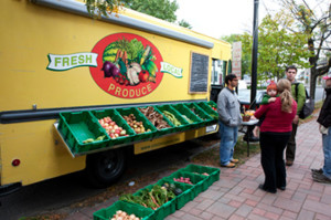 The green movement is shown in the mobile food vendor niches